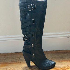 Seychelles tall black boots- size 7